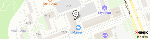 Колорит на карте Сургута