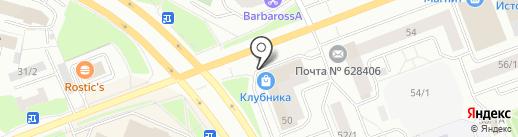 Штолле на карте Сургута
