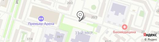 Автостоянка на карте Сургута