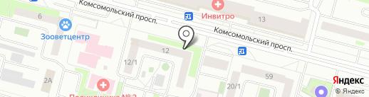 Библиотека №16 на карте Сургута