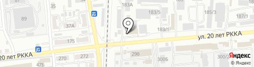 Мебельный терминал №1 на карте Омска