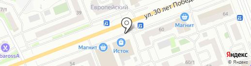 Сургут-Рыба на карте Сургута