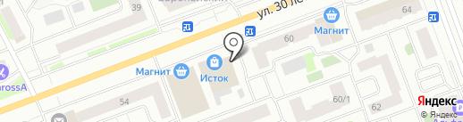 Север-Цемент на карте Сургута