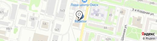 РАВОН на Кордном на карте Омска