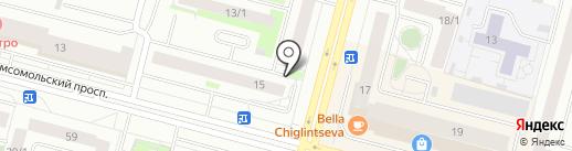 Аптека от склада на карте Сургута