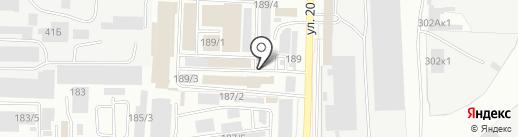 Компания по продаже одноразовой посуды на карте Омска