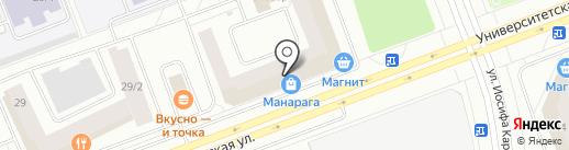 Орто-Космос на карте Сургута