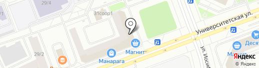 Сеамо на карте Сургута