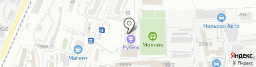 Рубеж на карте Омска