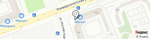 Взлетный на карте Сургута