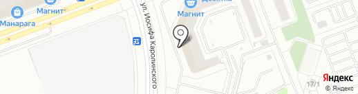 Пеликан на карте Сургута