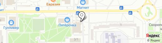 Омская пельменная фабрика на карте Омска