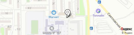 Магазин пива на розлив на карте Омска