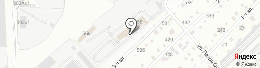 Автомойка на Индустриальной на карте Омска