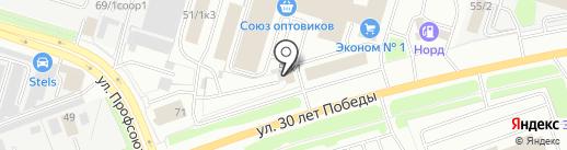 Многопрофильный магазин на карте Сургута