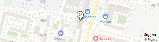 Бюро медико-социальной экспертизы по Ханты-Мансийскому автономному округу-Югре на карте Сургута