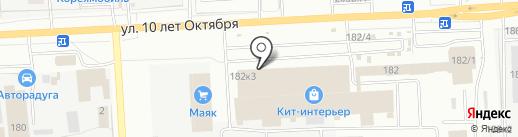 Мебельград на карте Омска
