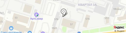 РАТ на карте Сургута