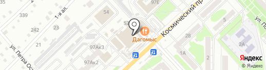 Магазин головных уборов на карте Омска