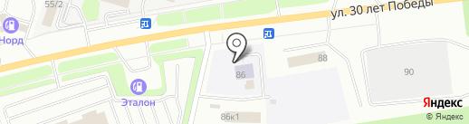 АвтоГазПарт86 на карте Сургута