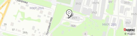 Сфера на карте Сургута