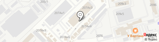 Айсберг на карте Омска