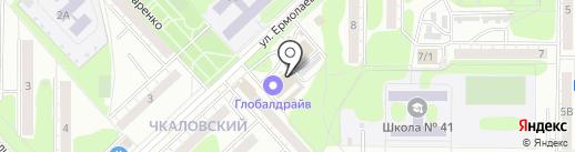 Ирбис на карте Омска
