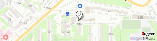 Красное & Белое на карте Омска