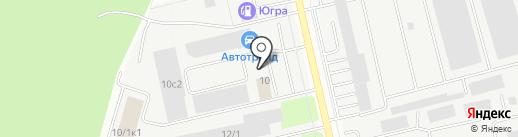 Автозайм на карте Сургута