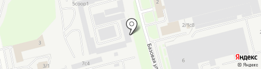 Каскад на карте Сургута