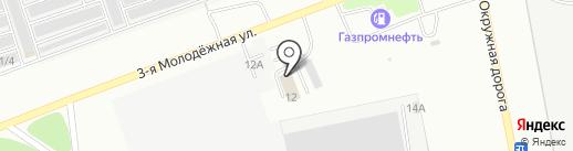 Автомойка на 3-й Молодежной на карте Омска