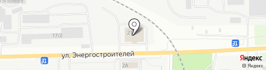 Сургутская ГРЭС-2 на карте Сургута