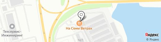 На семи ветрах на карте Сургута