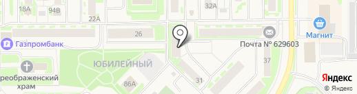 Уголовно-исполнительная инспекция Управления ФСИН России по ЯНАО на карте Муравленко
