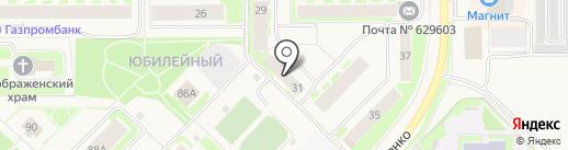 Управление пенсионного фонда РФ в г. Муравленко на карте Муравленко