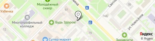 Аптека от склада на карте Муравленко
