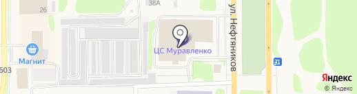 Муравленко на карте Муравленко