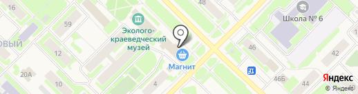 Магнит Косметик на карте Муравленко
