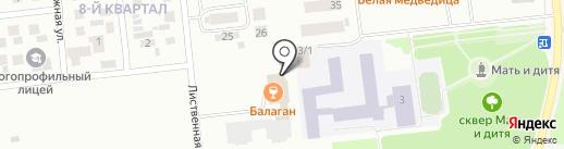 Балаган на карте Ноябрьска
