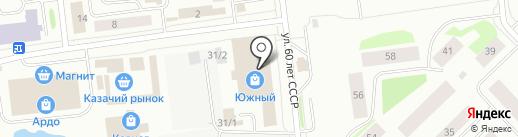 Шин-шила на карте Ноябрьска
