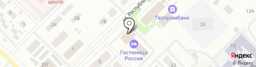Россия на карте Ноябрьска
