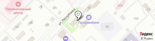 Газпром Добыча Ноябрьск на карте Ноябрьска