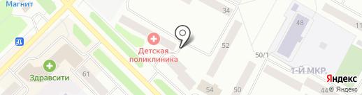 Круг на карте Ноябрьска