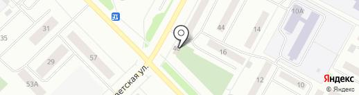 Пуговка на карте Ноябрьска