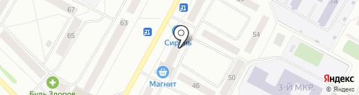 Сити Центр на карте Ноябрьска