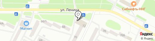 Млечник на карте Ноябрьска