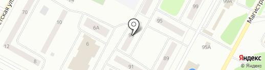 Магистральная 93 на карте Ноябрьска