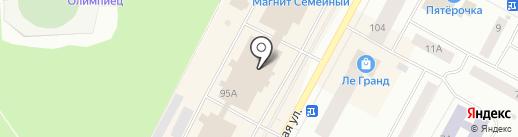 География на карте Ноябрьска