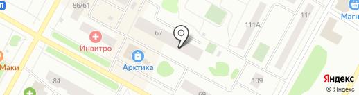 Тюменьгеопроект, ЗАО на карте Ноябрьска