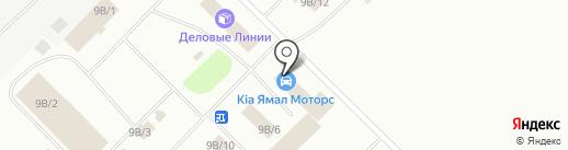 Ямал Моторс на карте Ноябрьска